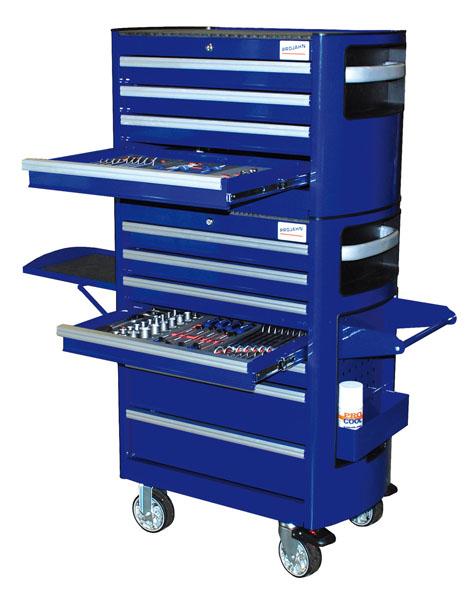 La gamme Projahn s élargit d une servante d atelier (réf.6911) et d une  caisse à outils (réf.6912) superposables. La servante possède sept tiroirs  montés ... bae49e56aad3
